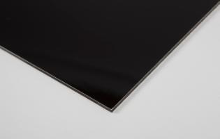 Alu-sandwich plade - 3,0 mm sort