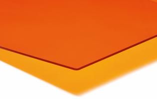 PLEXIGLAS® GS 3,0 mm Orange Transparent LT 39%